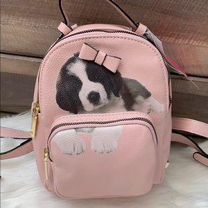 Blush kitsch Betsey Johnson dog mini backpack